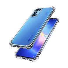Custodia Silicone Trasparente Ultra Slim Morbida per Oppo Reno5 Pro 5G Chiaro