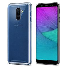 Custodia Silicone Trasparente Ultra Slim Morbida per Samsung Galaxy A6 Plus (2018) Chiaro