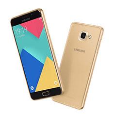 Custodia Silicone Trasparente Ultra Slim Morbida per Samsung Galaxy A7 (2016) A7100 Oro
