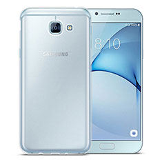 Custodia Silicone Trasparente Ultra Slim Morbida per Samsung Galaxy A8 (2016) A8100 A810F Chiaro