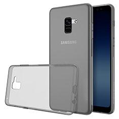 Custodia Silicone Trasparente Ultra Slim Morbida per Samsung Galaxy A8 (2018) A530F Grigio