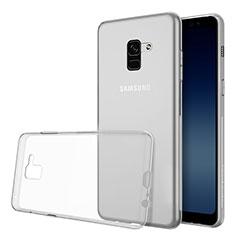 Custodia Silicone Trasparente Ultra Slim Morbida per Samsung Galaxy A8 (2018) Duos A530F Chiaro
