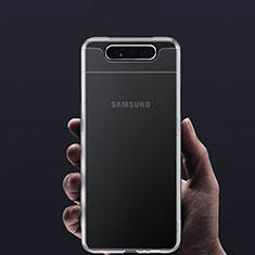 Custodia Silicone Trasparente Ultra Slim Morbida per Samsung Galaxy A80 Chiaro