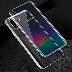 Custodia Silicone Trasparente Ultra Slim Morbida per Samsung Galaxy A90 5G Chiaro