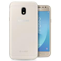 Custodia Silicone Trasparente Ultra Slim Morbida per Samsung Galaxy J3 Pro (2017) Chiaro