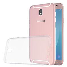 Custodia Silicone Trasparente Ultra Slim Morbida per Samsung Galaxy J5 (2017) SM-J750F Chiaro