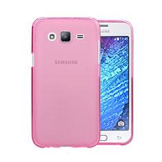 Custodia Silicone Trasparente Ultra Slim Morbida per Samsung Galaxy J5 SM-J500F Rosa