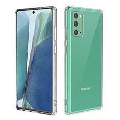 Custodia Silicone Trasparente Ultra Slim Morbida per Samsung Galaxy Note 20 5G Chiaro