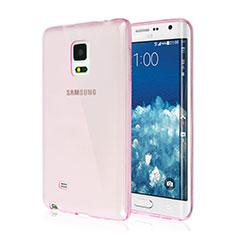 Custodia Silicone Trasparente Ultra Slim Morbida per Samsung Galaxy Note Edge SM-N915F Rosa