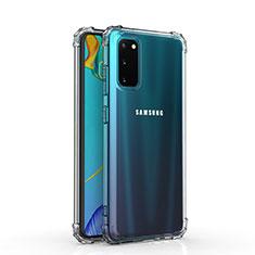 Custodia Silicone Trasparente Ultra Slim Morbida per Samsung Galaxy S20 5G Chiaro