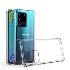 Custodia Silicone Trasparente Ultra Slim Morbida per Samsung Galaxy S20 Ultra Chiaro
