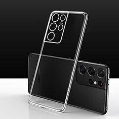 Custodia Silicone Trasparente Ultra Slim Morbida per Samsung Galaxy S21 Ultra 5G Chiaro