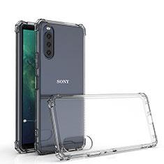 Custodia Silicone Trasparente Ultra Slim Morbida per Sony Xperia 10 II Chiaro