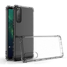 Custodia Silicone Trasparente Ultra Slim Morbida per Sony Xperia 5 II Chiaro