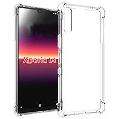 Custodia Silicone Trasparente Ultra Slim Morbida per Sony Xperia L4 Chiaro