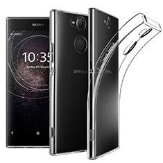Custodia Silicone Trasparente Ultra Slim Morbida per Sony Xperia XA2 Chiaro