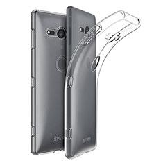 Custodia Silicone Trasparente Ultra Slim Morbida per Sony Xperia XZ2 Compact Chiaro