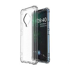 Custodia Silicone Trasparente Ultra Slim Morbida per Vivo X50e 5G Chiaro