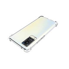 Custodia Silicone Trasparente Ultra Slim Morbida per Vivo X60 5G Chiaro
