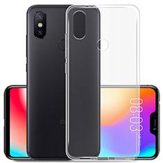 Custodia Silicone Trasparente Ultra Slim Morbida per Xiaomi Mi A2 Lite Chiaro