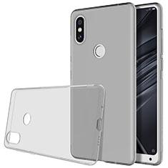 Custodia Silicone Trasparente Ultra Slim Morbida per Xiaomi Mi Mix 2S Grigio