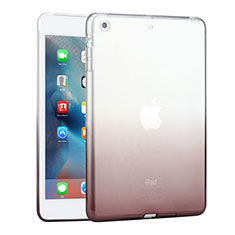 Custodia Silicone Trasparente Ultra Slim Morbida Sfumato per Apple iPad Mini 3 Grigio