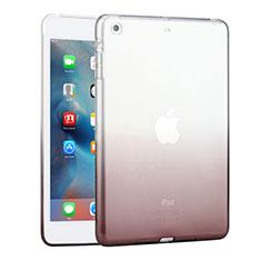 Custodia Silicone Trasparente Ultra Slim Morbida Sfumato per Apple iPad Mini Grigio