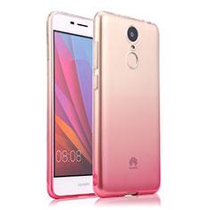 Custodia Silicone Trasparente Ultra Slim Morbida Sfumato per Huawei Enjoy 6 Rosa