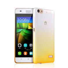 Custodia Silicone Trasparente Ultra Slim Morbida Sfumato per Huawei G Play Mini Giallo