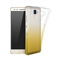 Custodia Silicone Trasparente Ultra Slim Morbida Sfumato per Huawei GR5 Mini Giallo