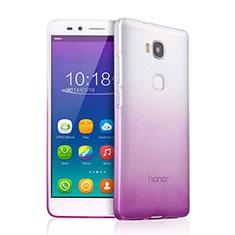 Custodia Silicone Trasparente Ultra Slim Morbida Sfumato per Huawei GR5 Viola