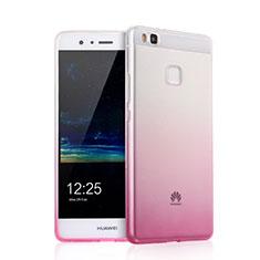 Custodia Silicone Trasparente Ultra Slim Morbida Sfumato per Huawei P9 Lite Rosa