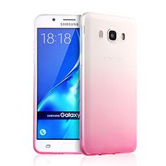 Custodia Silicone Trasparente Ultra Slim Morbida Sfumato per Samsung Galaxy J5 (2016) J510FN J5108 Rosa