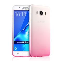 Custodia Silicone Trasparente Ultra Slim Morbida Sfumato per Samsung Galaxy J5 Duos (2016) Rosa