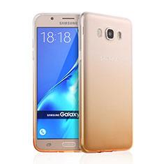 Custodia Silicone Trasparente Ultra Slim Morbida Sfumato per Samsung Galaxy J7 (2016) J710F J710FN Giallo