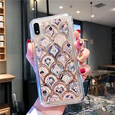 Custodia Silicone Trasparente Ultra Sottile Cover Fiori T01 per Apple iPhone XR Multicolore