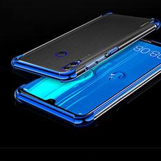 Custodia Silicone Trasparente Ultra Sottile Cover Morbida A04 per Huawei Honor 8X Max Blu