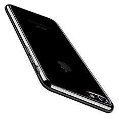 Custodia Silicone Trasparente Ultra Sottile Cover Morbida C01 per Apple iPhone 8 Nero