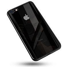 Custodia Silicone Trasparente Ultra Sottile Cover Morbida C02 per Apple iPhone 7 Nero