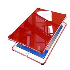 Custodia Silicone Trasparente Ultra Sottile Cover Morbida H01 per Apple iPad Air 2 Rosso