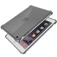 Custodia Silicone Trasparente Ultra Sottile Cover Morbida H01 per Apple iPad Mini 3 Nero