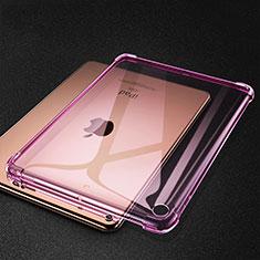Custodia Silicone Trasparente Ultra Sottile Cover Morbida H01 per Apple iPad Mini 5 (2019) Rosa