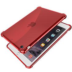Custodia Silicone Trasparente Ultra Sottile Cover Morbida H01 per Apple iPad Mini Rosso