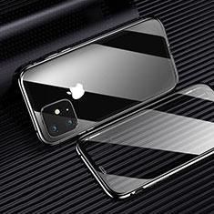 Custodia Silicone Trasparente Ultra Sottile Cover Morbida H01 per Apple iPhone 11 Nero