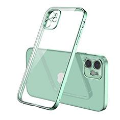 Custodia Silicone Trasparente Ultra Sottile Cover Morbida H01 per Apple iPhone 12 Max Verde