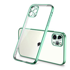 Custodia Silicone Trasparente Ultra Sottile Cover Morbida H01 per Apple iPhone 12 Pro Verde