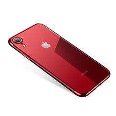 Custodia Silicone Trasparente Ultra Sottile Cover Morbida H01 per Apple iPhone XR Rosso