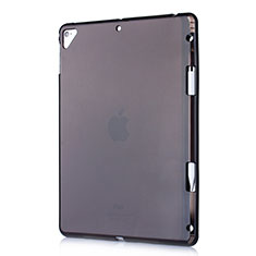Custodia Silicone Trasparente Ultra Sottile Cover Morbida H01 per Apple New iPad 9.7 (2017) Nero