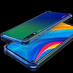 Custodia Silicone Trasparente Ultra Sottile Cover Morbida H01 per Huawei Enjoy 10 Blu