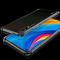Custodia Silicone Trasparente Ultra Sottile Cover Morbida H01 per Huawei Enjoy 10 Nero